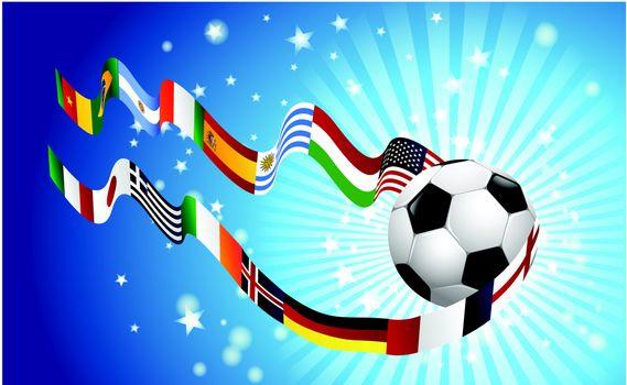 International soccer World top rangking whit flags