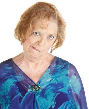 Senior Woman Makes Strange Faces