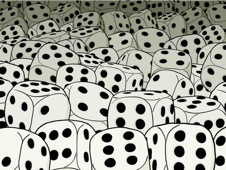 Abstract gambling composition - dices