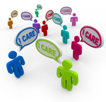 I Care People Friends Support Group Empathy Sympathy