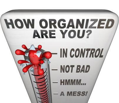 How Organized Are You Thermometer Measure Neat Order