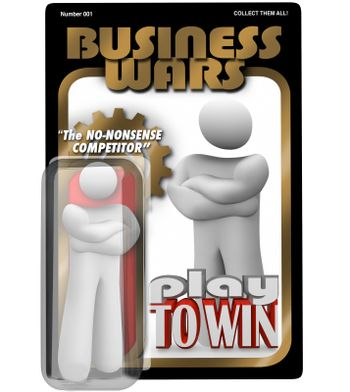 Business Wars Action Figure Dedicated Employee Competitor