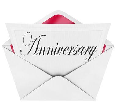 Anniversary Card Invitation Envelope Annual Occasion