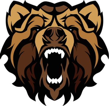Grizzly Bear Mascot Graphic Vector Illustration