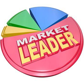 Market Leader - Biggest Slice Portion of Pie Chart Shares