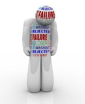 Failure - Sad Person Loser Denied and Unsuccessful