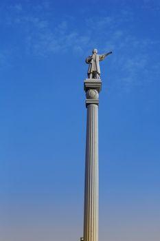 Cristobal Columbus colon statue in Maspalomas