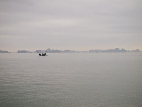 Ha Long bay Vietnam before night