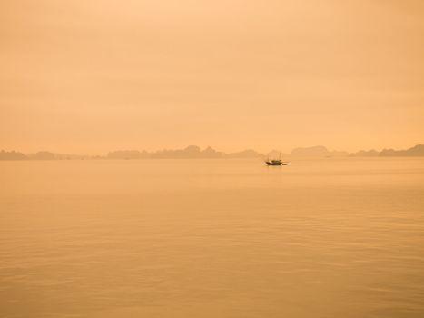 Sunset at Ha Long Bay, Vietnam