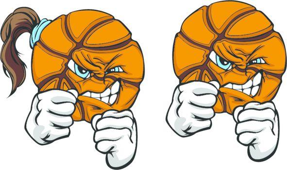 Fighting Basketball Ball Vector Illustration