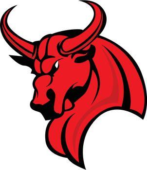 Mascot Bull Vector Graphic Illustration