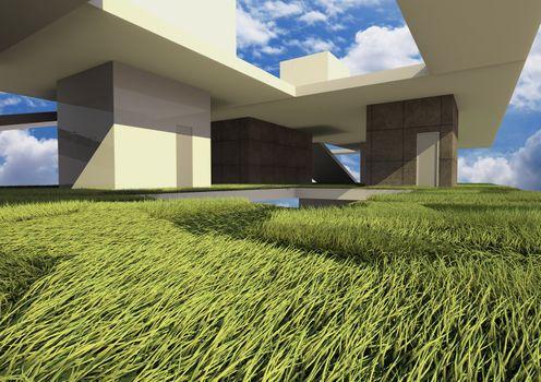 3d render building system