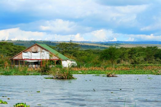 Tourist resort on the lake Naivasha