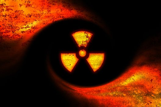 Toxic symbol abstract background