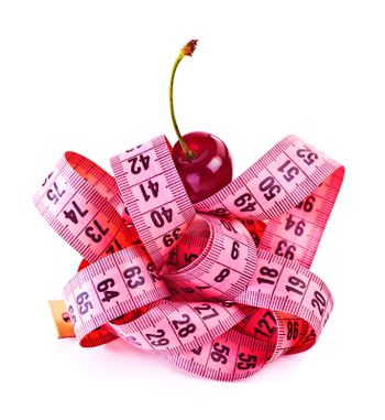 Measure tape with cherry