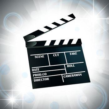 film cracker over bright star background