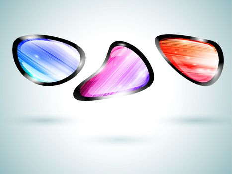 bright abstract buttons for your design