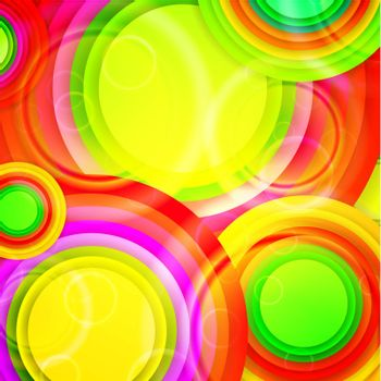 Bright multicolored round shapes background