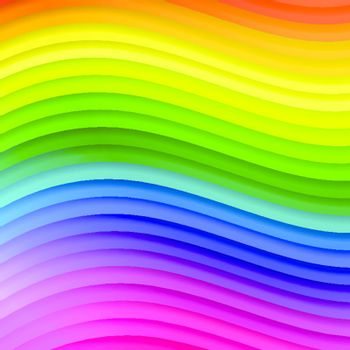 abstract multicolored wavy lines background