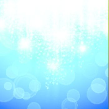 blue holiday background with bright stars