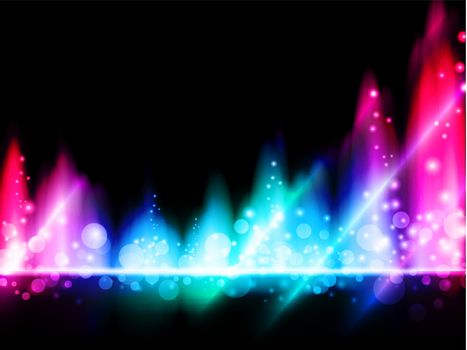 illustration of multicolored bright abstract background