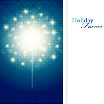 holiday frame with sparkler and copyspace