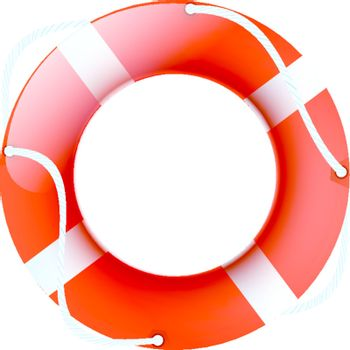 illustration of lifebuoy over white background