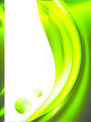 Green abstract frame, copyspace for your text