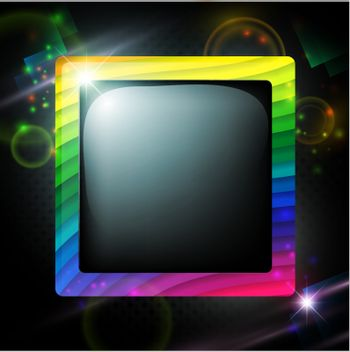 abstract multicolored lines frame over dark glowing background