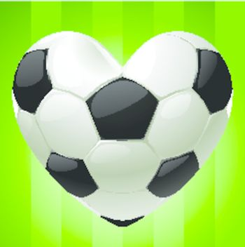 Ball for football in the shape of heart