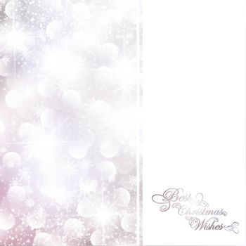 abstract glowing Christmas background with copyspace for your text