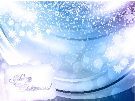 abstract glowing Christmas background with greeting