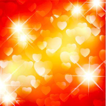 Valentine day background with stars