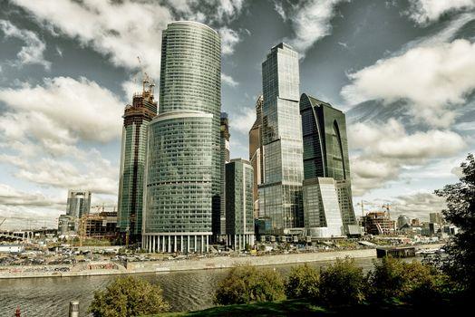 "Moscow modern business center ""Delovoi mir"" taken August 2012"