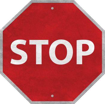 Stop label signage