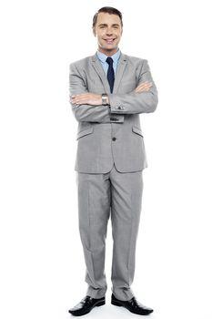 Full length portrait of confident entrepreneur