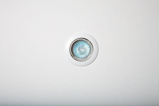circular white floodlight