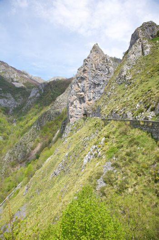 tunnel of road in Picos de Europa