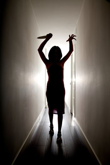 horror silhouette with knife