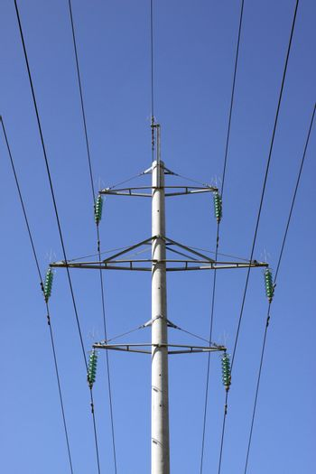 One high voltage pylon and electricity lines