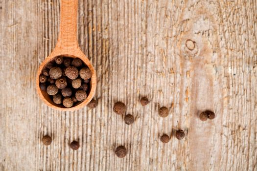 pimento in wooden spoon