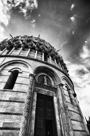 Romanesque style Baptistery in Pisa, Italy