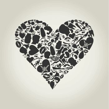 Heart of a part of a body