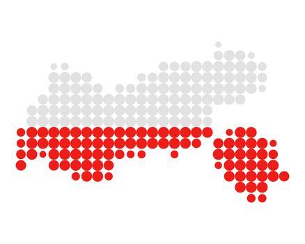 Map and flag of Tyrol