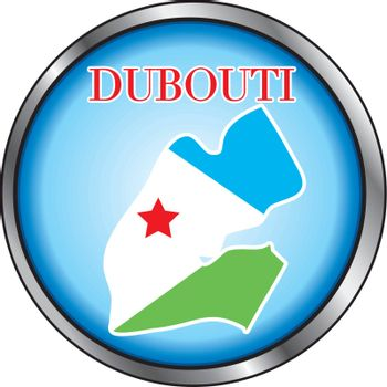Vector Illustration for the country of Dubouti Round Button.