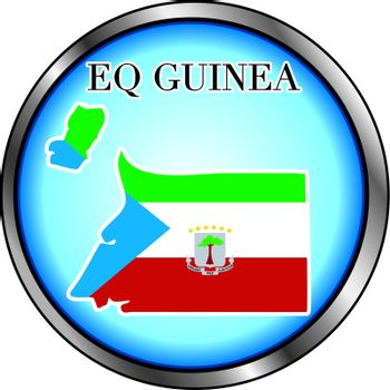 Vector Illustration for the country of Eq. Guinea Round Button.