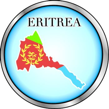 Vector Illustration for the country of Eritrea Round Button.