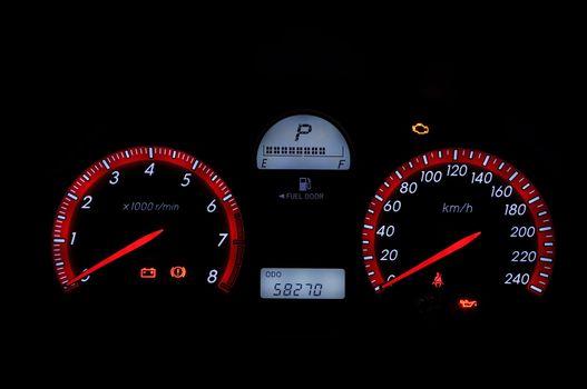 car dashboard gauges