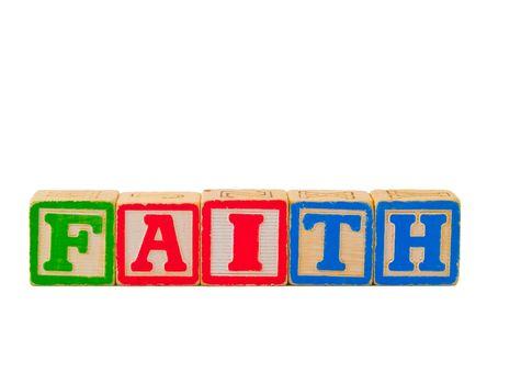 Colorful Alphabet Blocks FAITH