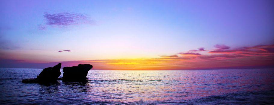 Romantic purple sunset